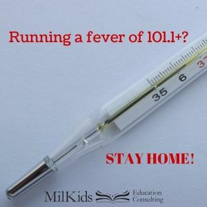 Running a Fever of 101.1+-