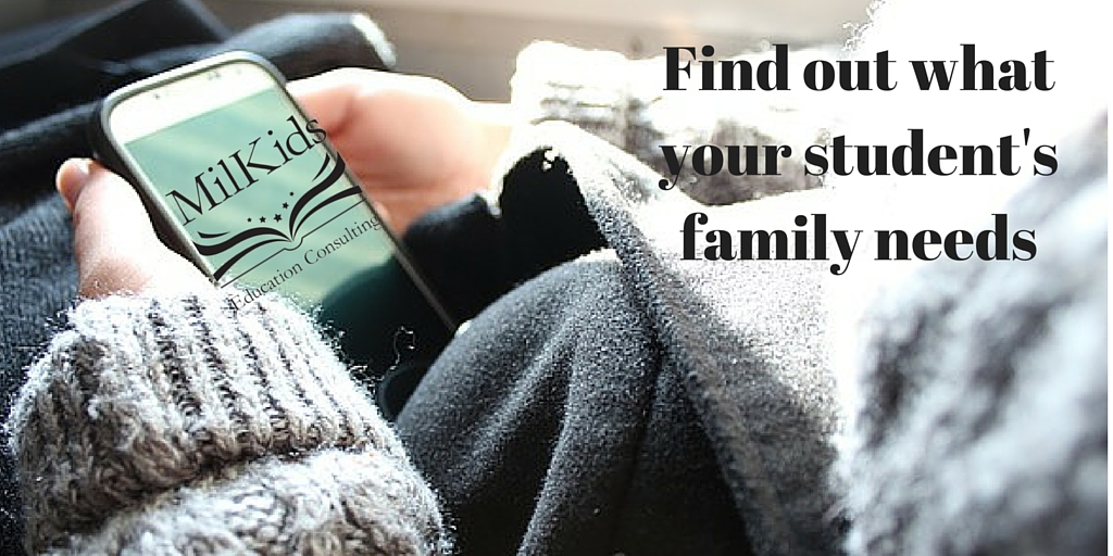 Find out what your student's family needs