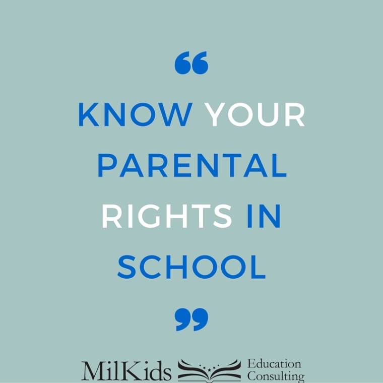 know your parental rights in school