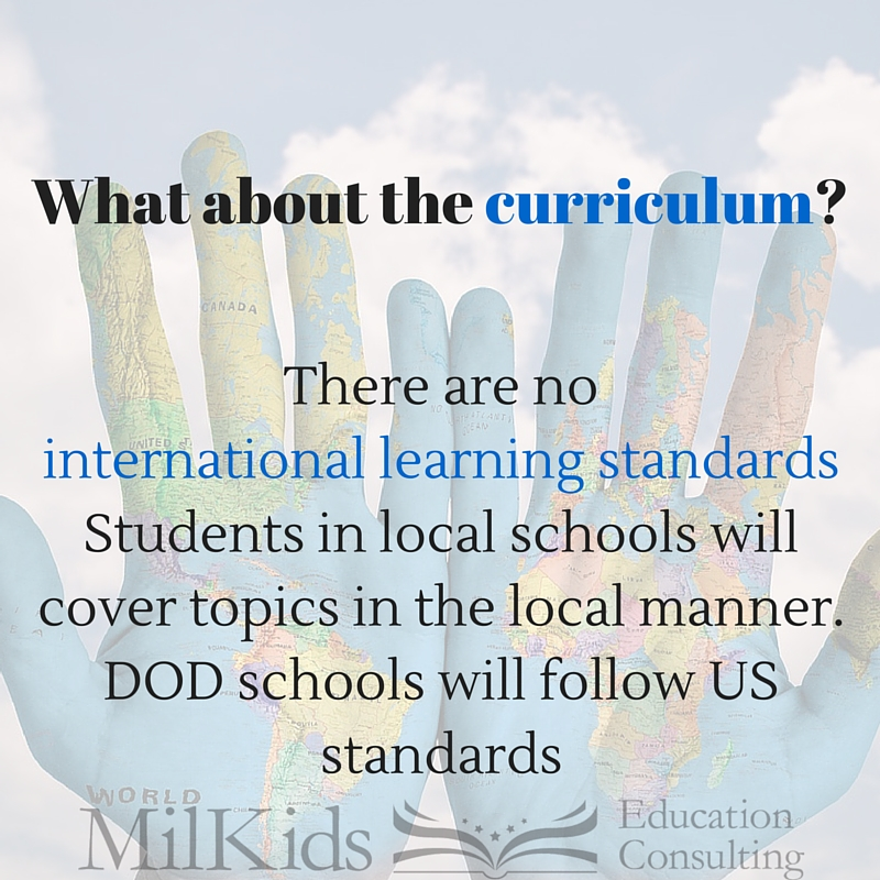 What about the curriculum-