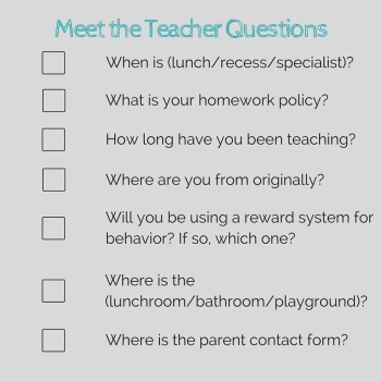 Meet the Teacher Questions