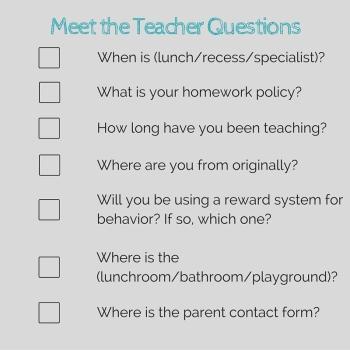 Meet the Teacher Questions