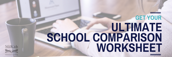 school comparison worksheet email