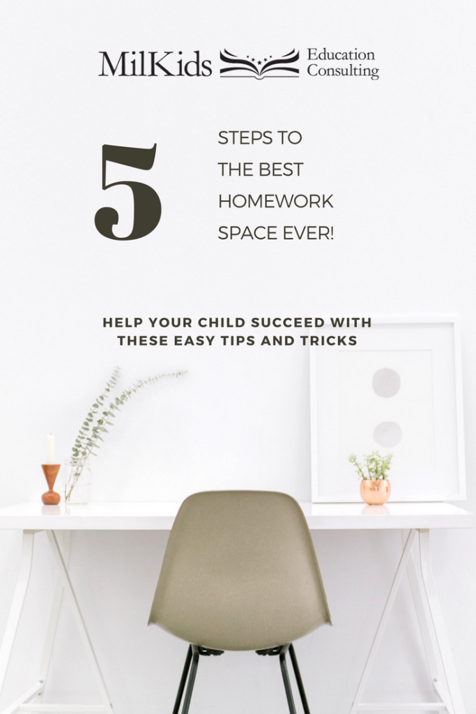 Stop homework battles when you follow these 5 steps to set up the perfect homework space. Get your FREE Ultimate School Success Kit sent straight to your inbox: http://eepurl.com/c1i809 | Meg Flanagan, MilKids Ed | Make the K-12 Journey Easier |